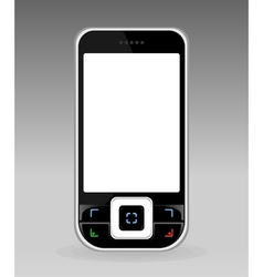 black cellular telephone with the white screen a v vector image