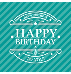 Blue Birthday Greeting Card vector image