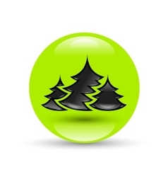 Creative New year tree vector image