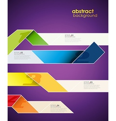 Infographic template with stripes and place for vector image vector image