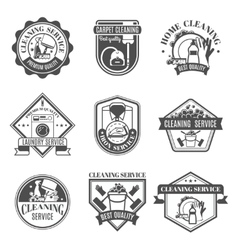 Isolated Cleaning Icons Set vector image vector image