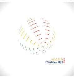 rainbow ball logo vector image
