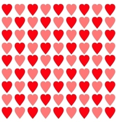 Red and pink heart set seamless pattern wrapping vector