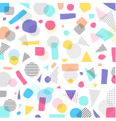 Abstract geometric modern pastels color black vector