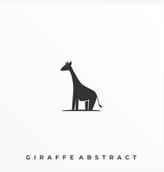 Abstract giraffe template vector