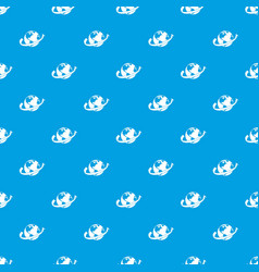 airplane fly around the planet pattern seamless vector image