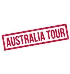 Australia Tour rubber stamp vector image