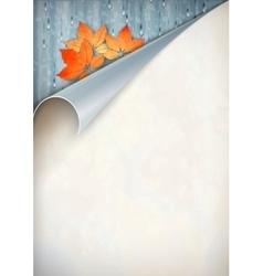 Autumn Corner Card vector image