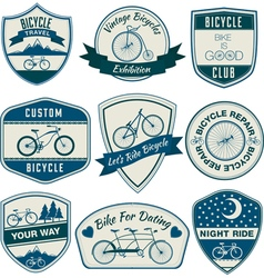Bicycle Vintage Badges Set vector