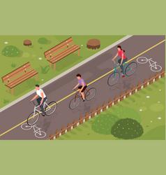 Bikes isometric vector