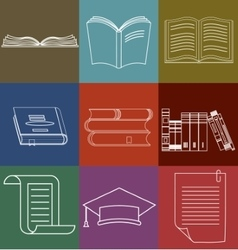 Book Icons Set Document and Paper signs vector image