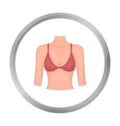 Breast icon in cartoon style isolated on white vector