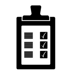 business checklist icon image vector image