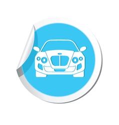 CAR BLUE LABEL vector