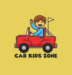 Car kids zone good for logo and badge play zone vector