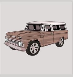 Cartoon chevrolet classic retro vintage car vector
