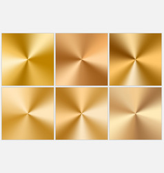 Collection of golden conic gradients vector