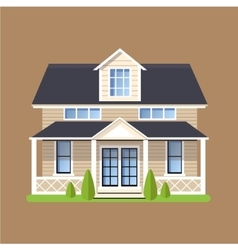 Colorful Flat Residential Houses vector