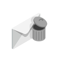 Delete message icon isometric 3d style vector image