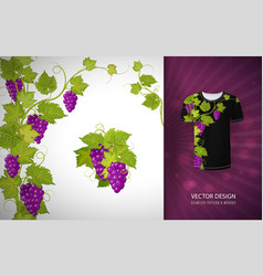 Design for shirts blouses t-shirt grapes vector