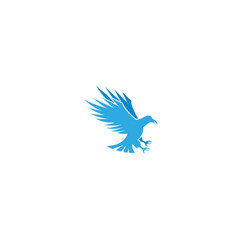 eagle hunts holds prey claws logo icon vector image