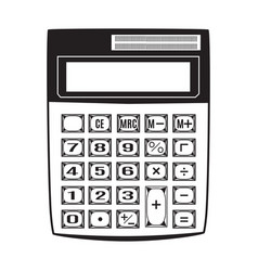 electronic black calculator vector image