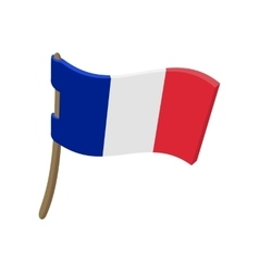 Flag of France icon cartoon style vector image