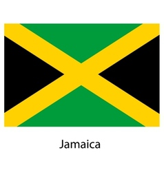 Flag of the country jamaica vector