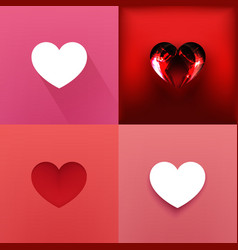 Four Hearts vector image