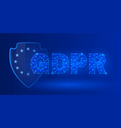 General data protection regulation theme vector
