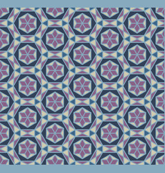 Geometric pattern with purple stars vector