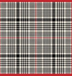 Glen plaid pattern vector