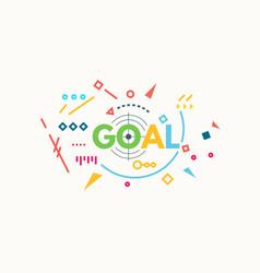 Goal banner concept vector