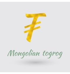 Golden Mongolian Togrog Symbol vector