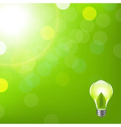 Green Background With Bokeh And Lamp vector