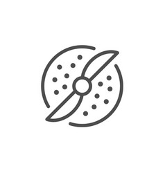 Grinding line icon vector