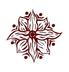 Hand drawn mandala flower vector image