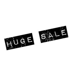 Huge sale rubber stamp vector