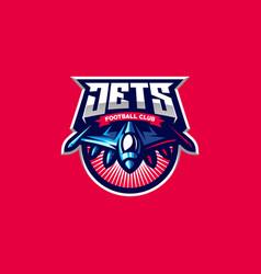 Jets logo design vector