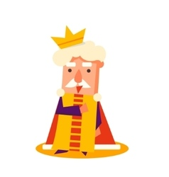 King Cartoon Emotion Set vector image