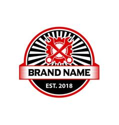 Logo badge engine repair vector