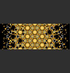 Luxury premium rich morocco golden and black vector