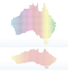 Map commonwealth australia with with dot vector