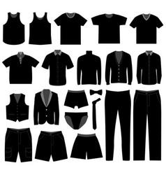 men man male apparel shirt cloth wear a big set vector image