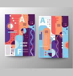 mixed geometric style leaflet template vector image