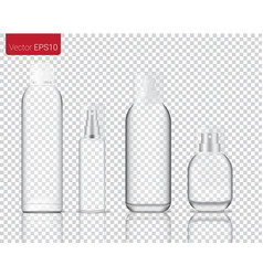 Mock up realistic glass spray bottle isolated on vector