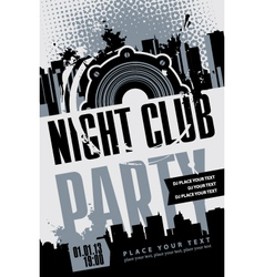 night club vector image