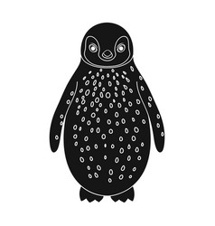 penguinanimals single icon in black style vector image