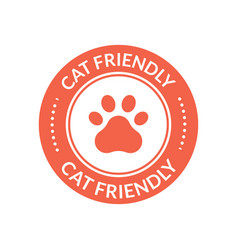 pet animal cat friendly sign paw cat place icon vector image