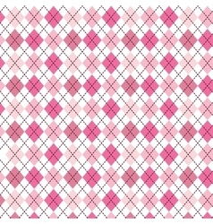 Pink pattern with diamond shapes vector